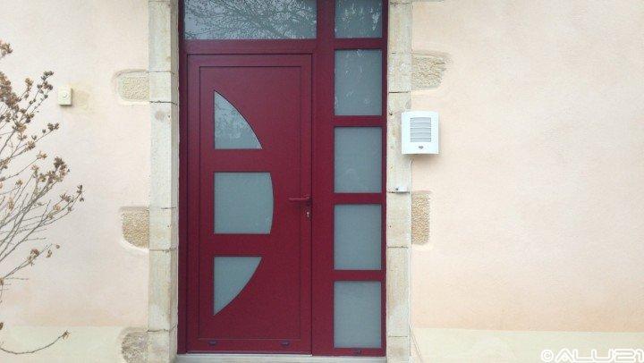 Porte d'entrée réalisée à Saint maurice sur vingeanne